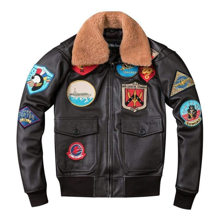 Falattar Store  TOP GUN Pilot Leather Jacket TOP GUN Pilot Leather Jacket