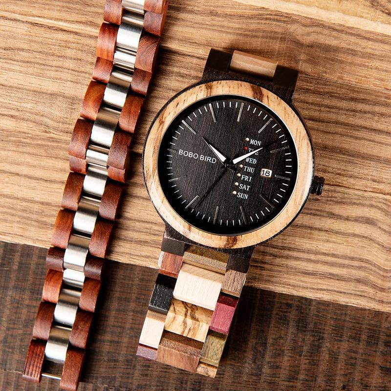 Falattar Store  watch bracelet black / China Wooden Watch with Bracelet Gifts Box