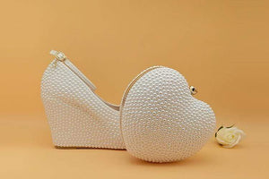 Wedding Shoes with Matching Bag, Wedding Shoes with Matching Bag, Falattar Store