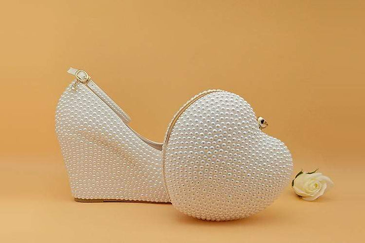 Falattar Store  Wedding Shoes with Matching Bag Wedding Shoes with Matching Bag