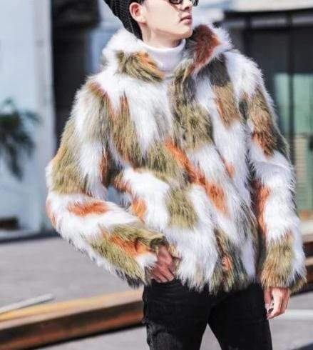 Falattar Store  Winter Fashion Fur Coat green / M Winter Fashion Fur Coat