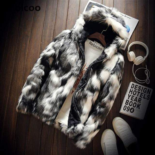 Falattar Store  Winter Fashion Fur Coat grey / 4XL Winter Fashion Fur Coat