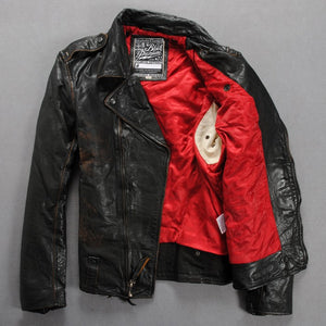 Italy Vintage Leather Motorcycle Jacket