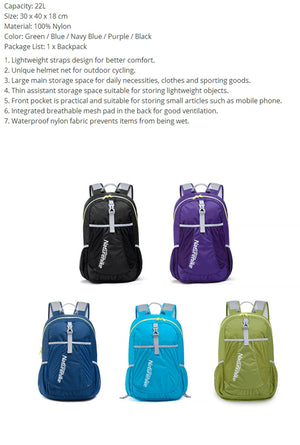 Ultralight Sport Outdoor Backpack, Ultralight Sport Outdoor Backpack, Falattar Store