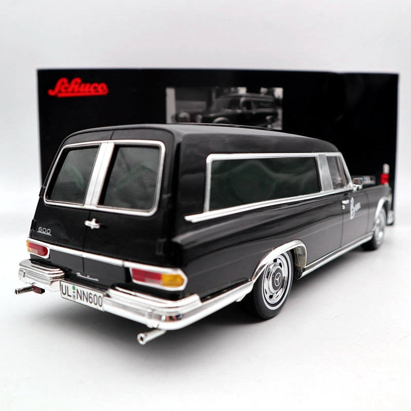 SCHUCO 1:18 FOR Mercedes-Benz 600 HEARSE FUNERAL Model, SCHUCO 1:18 FOR Mercedes-Benz 600 HEARSE FUNERAL CAR, Falattar Store