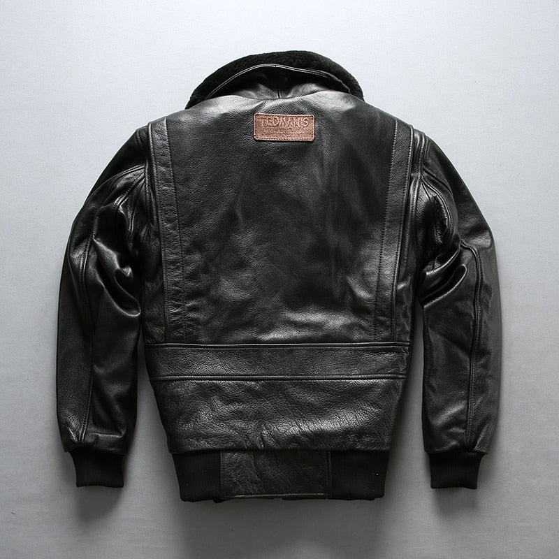 Air Force Real Fur Collar Cowskin Flight Jacket