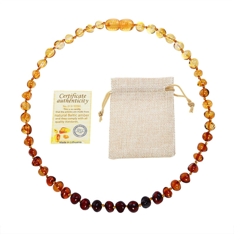 Baby Genuine Baltic Amber Stone Necklace
