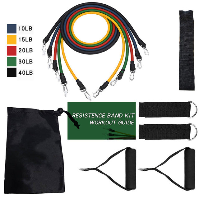 17Pcs Resistance Bands Set, 17Pcs Resistance Bands Set, Falattar Store