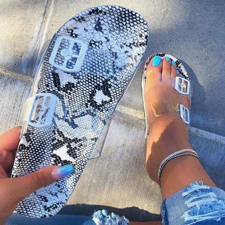 Transparent Summer Flat Slippers