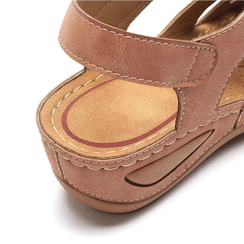 Summer Sewing Leather Vintage Buckle Sandals, Summer Sewing Leather Vintage Buckle Sandals, Falattar Store