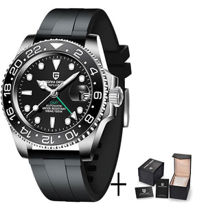 Luxury Men Mechanical Stainless Steel GMT Watch