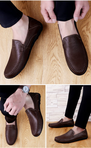 Luxury Genuine Leather Men Casual Shoes