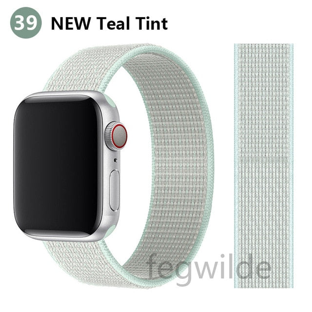 Nylon Loop Strap For Apple Watch