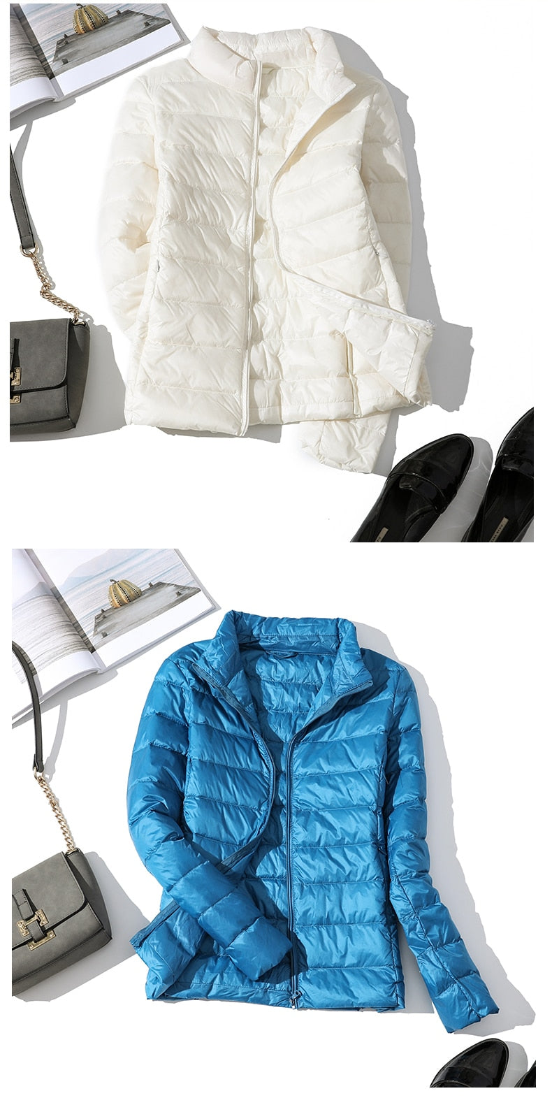 Ultralight White Duck Down Jacket
