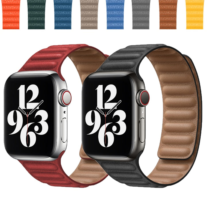 Genuine Leather Link Band for Apple Watch