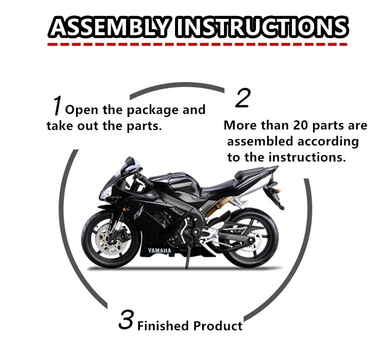 Maisto 1:12 Assembled Motorcycle Model