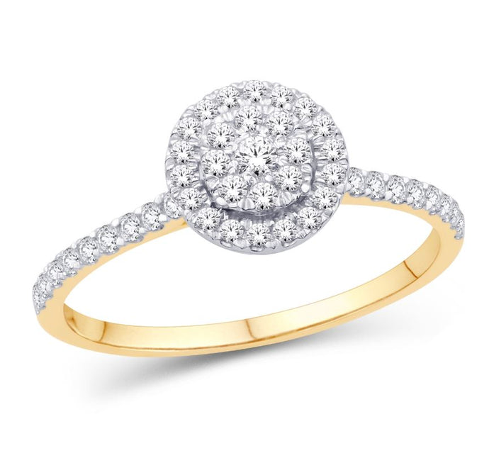 Diamond Pavé Halo Ring