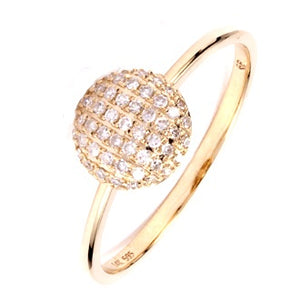 Diamond Button Ring