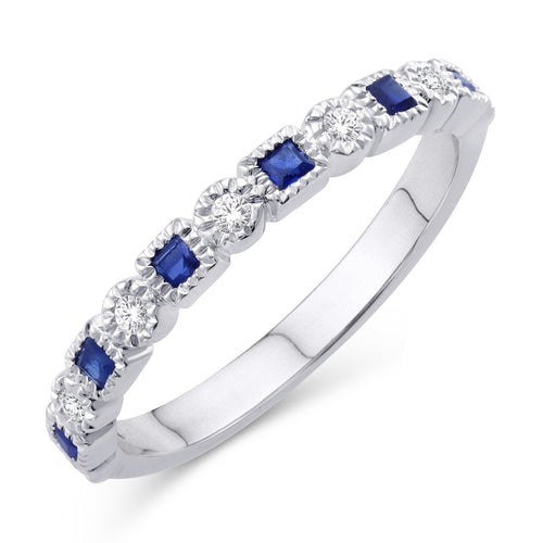 Semi Eternity band Round and Square Filigree Motif