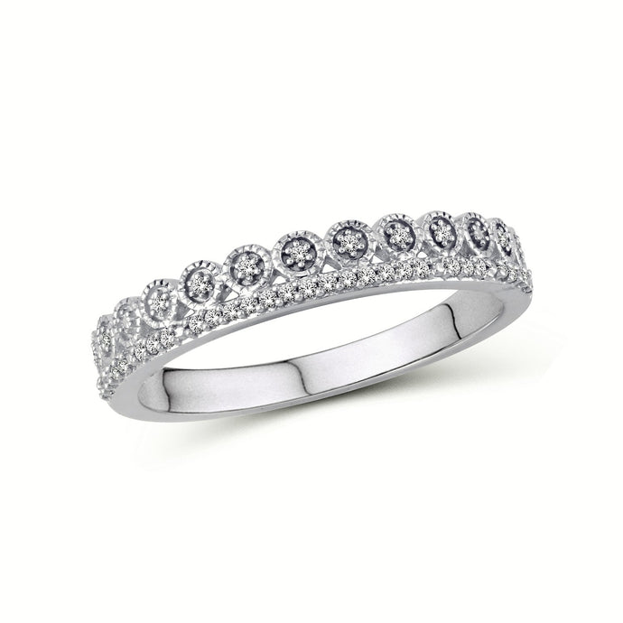 Double Row Round Star Motif Ring