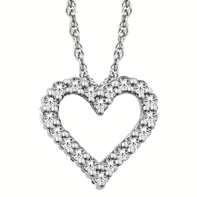Diamond Heart Ajouré Necklace