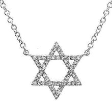 Load image into Gallery viewer, Diamond Star of David Necklace