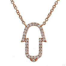 Load image into Gallery viewer, Diamond Ajouré Hamsa Hand Necklace
