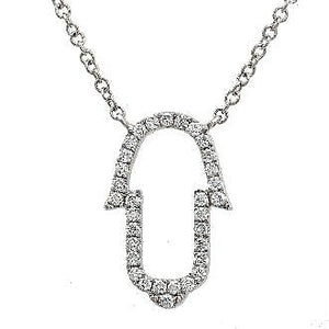 Diamond Ajouré Hamsa Hand Necklace