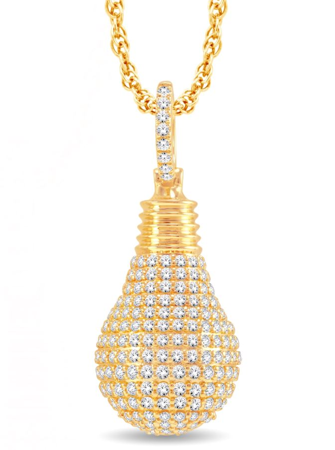 Diamond Light Bulb Pendant