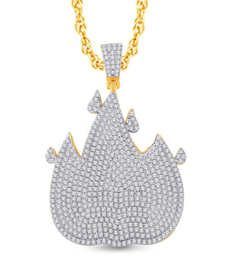 Diamond Flame Pendant