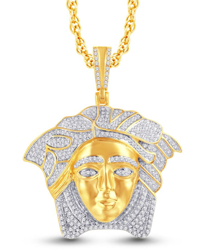 Diamond Medusa Pendant