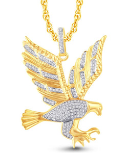 Diamond Flying Eagle Pendant