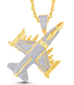 Diamond Fighter Jet Plane Pendant