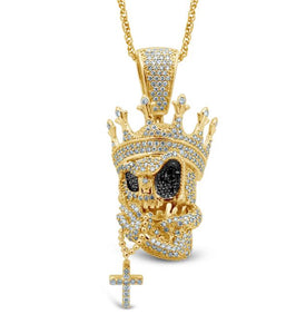 Diamond Skull King Pendant