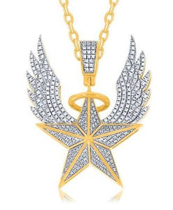 Diamond Winged Star Pendant