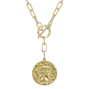 Antique Look Cesar Coin Neckalce