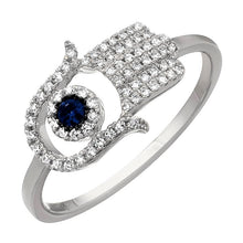 Load image into Gallery viewer, Blue Signature Hamsa Ring