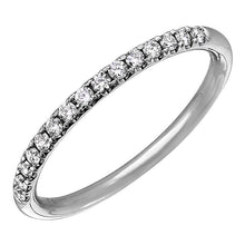 Load image into Gallery viewer, Diamond Tiger Prong Semi-Eternity Ring