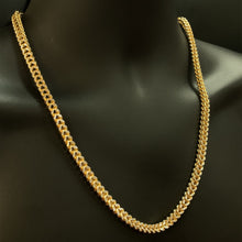 Load image into Gallery viewer, 10kt Yellow Gold Diamond Cut Franco Link Chain 6 mm 24 Inches