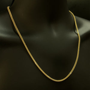 10kt Yellow Gold  Franco Link Chain 3 mm 24 Inches