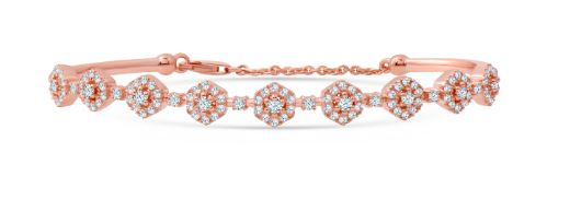 Diamond Halos Pavé Bangle