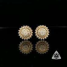 Load image into Gallery viewer, 10k Yellow Gold Men's Diamond Earrings 0.80ct