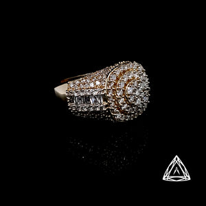 10k Yellow Gold Men's Diamond Ring 3.05ct