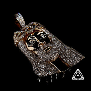 10kt Jumbo Jesus Diamond  Piece