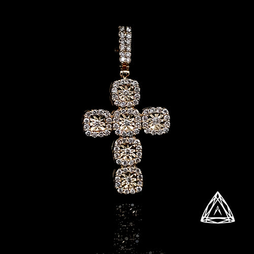 10kt Diamond Cross pendant set with 1.15ct