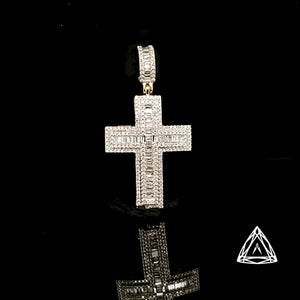 10kt Yellow Gold Diamond Cross 0.80ct