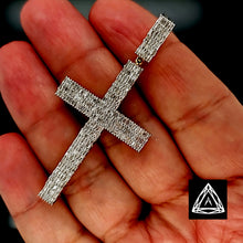 Load image into Gallery viewer, 10kt Yellow Gold full Diamond Baguette Cross