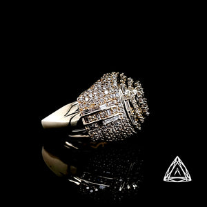 10kt Yellow Gold Men's Cabochon Diamond Ring