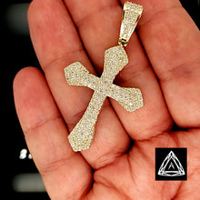 Load image into Gallery viewer, 10kt Yellow Gold Diamond Cross