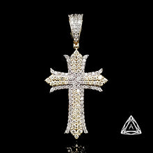 Load image into Gallery viewer, 10kt Yellow Gold Diamond Cross Pendant
